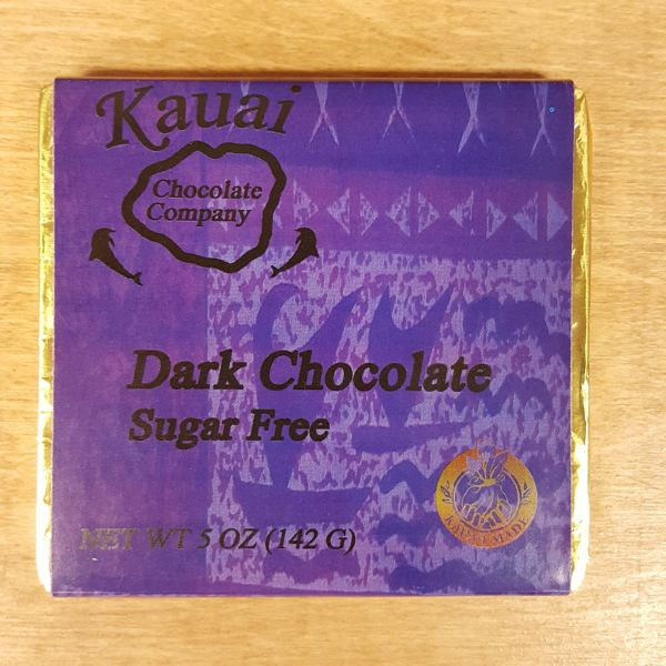 Chocolate Bar - 70% Cacao Dark Chocolate - Sugar Free, by Kauai Chocolate Company