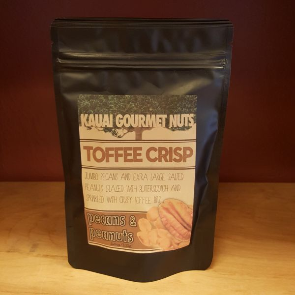 Toffee Crisp Pecans and Peanuts, by Kauai Gourmet Nuts