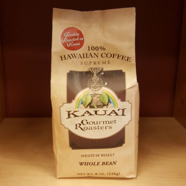 Medium Roast Whole Bean Coffee, By Kauai Gourmet Roasters
