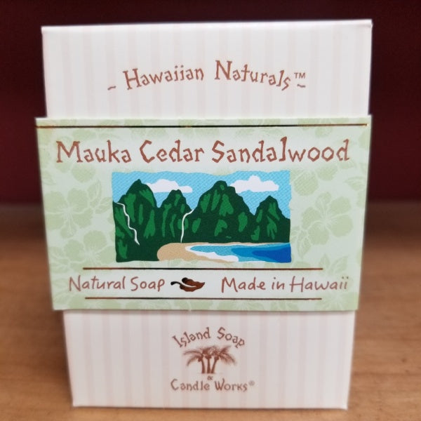 Natural Soap - Mauka Cedar Sandalwood, by Island Soap & Candle Works