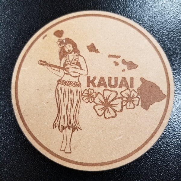 Coasters - Hula Girl, by Insert Brand Here Shop