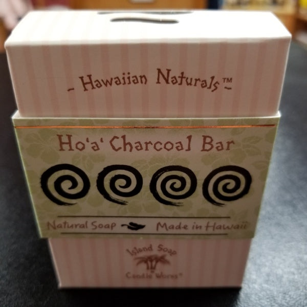 Hawaiian Naturals Soap - Ho'a' Charcoal, by Island Soap & Candle Works
