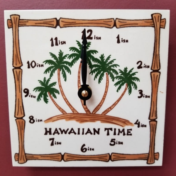 Hawaiian Palms Clock - 6 X 6 Inch, by Banana Patch Studios