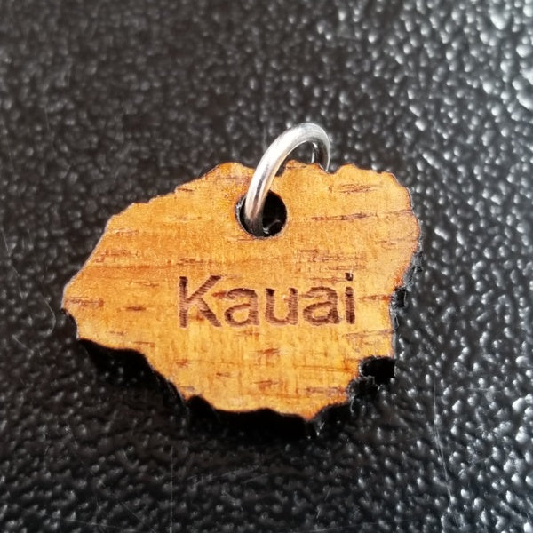Koa Wood Charms - Kauai Island, by Sunset Art