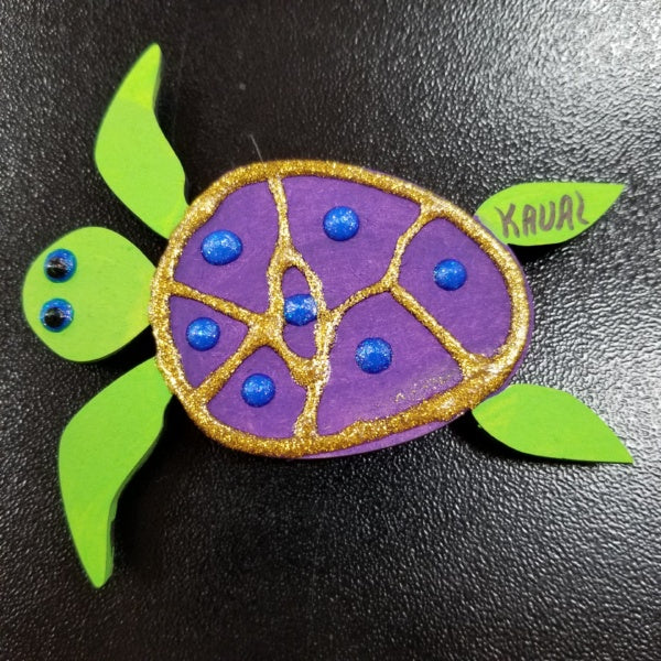 Magnet - Turtle - Purple, by Mary Felcher