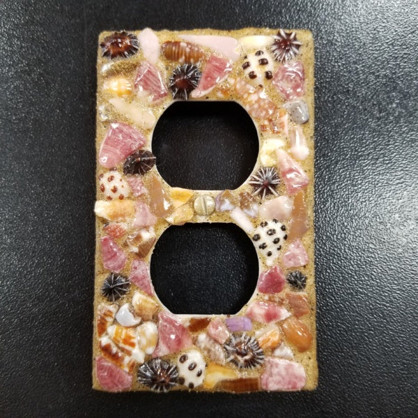 Standard Outlet Switch Plate - Kauai Shells, by David Stern