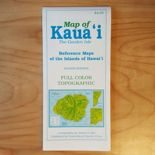 Map Of Kauai The Garden Isle, by James A. Bier