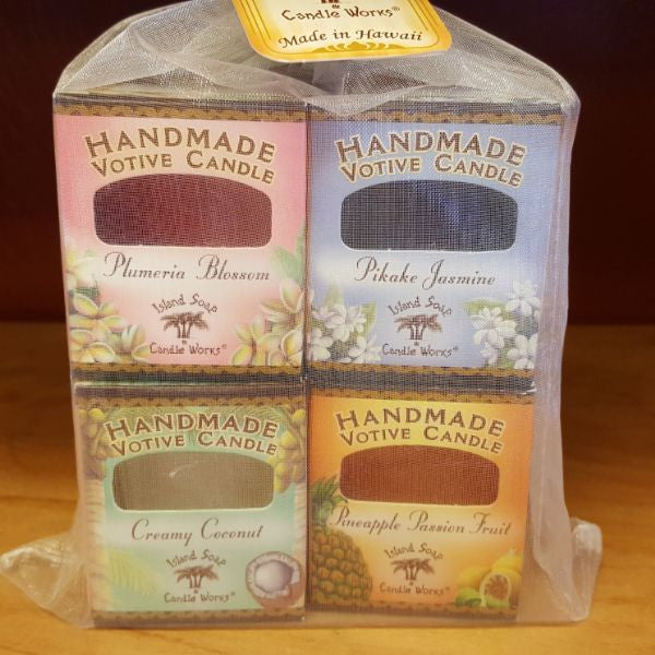 Votive Candle 4 Pack, by Island Soap & Candle