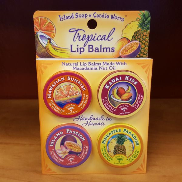 Tropical Lip Balm Tins Sample Pack, by Island Soap And Candle