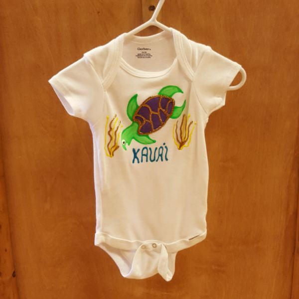 Hand Painted Onesie - Turtle, by Mary Felcher