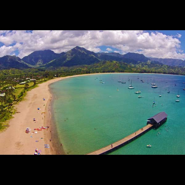 Postcards - Hanalei Pier, by The Kauai Store , Postcards - The Kauai Store, The Kauai Store  - 1