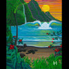 Pacific Treasures - Matted Laser Print, by Moses Hamilton