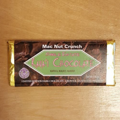 Mac Nut Crunch Dark Chocolate Bar - 70% Cacao, by Kulana Kokoleka Farm , Chocolate - Kulana Kokoleka Farm, The Kauai Store