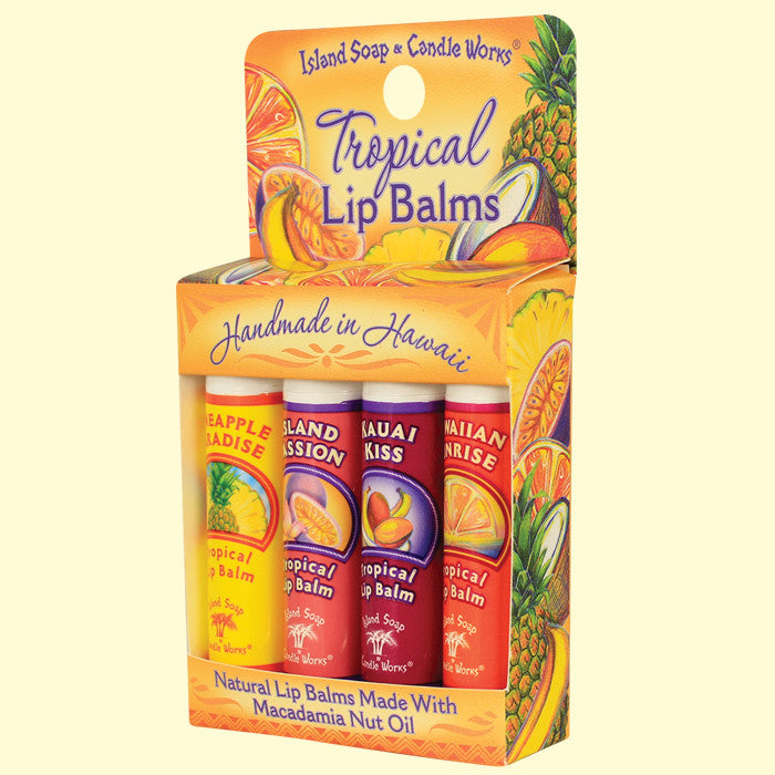 Tropical Lip Balms - 4 pack, by Island Soap & Candle Works , Beauty - Island Soap & Candle Works, The Kauai Store  - 1