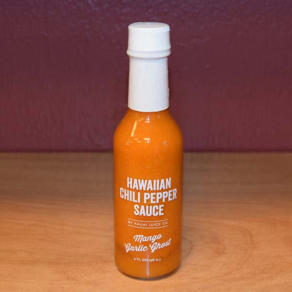 Mango Garlic Ghost Hawaiian Chili Pepper Sauce, by the Kauai Juice Company , Condiment - Kauai Juice Company, The Kauai Store