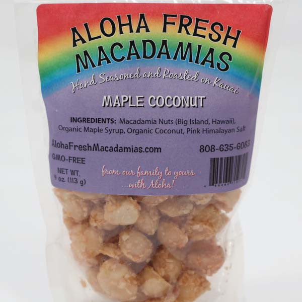 Macadamia Nuts - Maple Coconut, by Aloha Fresh Macadamias , Nuts - Aloha Fresh Macadamias, The Kauai Store