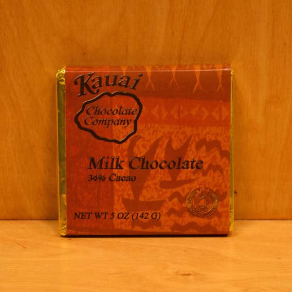 Chocolate Bar - 34% Cacao Milk Chocolate, by Kauai Chocolate Company , Chocolate - Kauai Chocolate Company, The Kauai Store