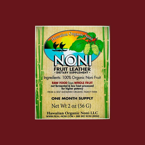 Noni Fruit Leather, by Hawaiian Organic Noni , Condiment - Hawaiian Organic Noni, The Kauai Store