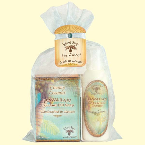 Organza Gift Bag - Creamy Coconut Soap and Lotion, 2 oz. by Island Soap & Candle Works , Beauty - Island Soap & Candle Works, The Kauai Store