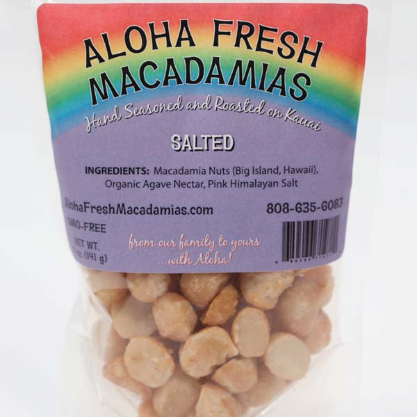 Macadamia Nuts - Salted, by Aloha Fresh Macadamias , Nuts - Aloha Fresh Macadamias, The Kauai Store