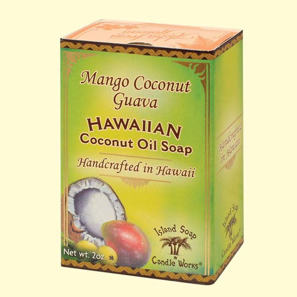 Coconut Oil Soap - Mango Coconut Guava, 2 oz. by Island Soap & Candle Works , Soap - Island Soap & Candle Works, The Kauai Store