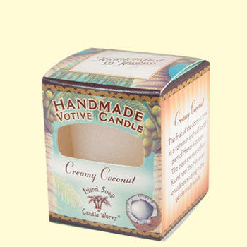 Votive Candle - Creamy Coconut, by Island Soap & Candle Works , Candle - Island Soap & Candle Works, The Kauai Store
