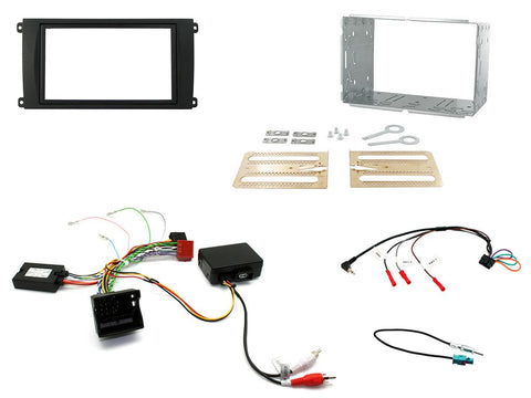 Aftermarket Headunit Install Fascia Kit for Porsche Cayenne 2008-2010 (FP8312K)