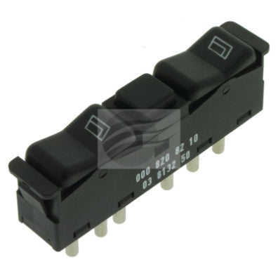 POWER WINDOW SWITCH MERCEDES W123 DUAL SWITCH, C/ LOCK OE PART (ESW6841)