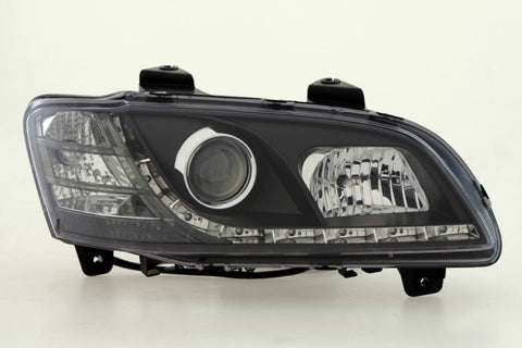 Holden Commodore VE (series 2) DRL LED projector headlights BLACK