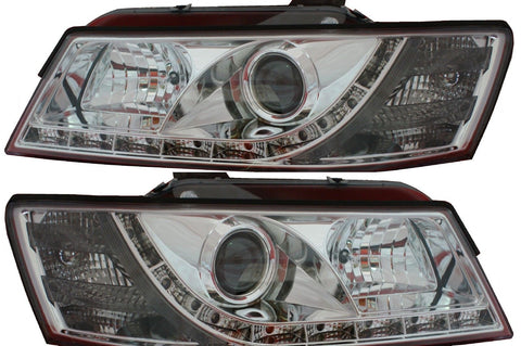 Holden Commodore VZ DRL LED projector headlights CHROME
