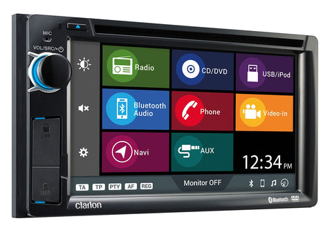 "Clarion NX387AU 6.2"" AV RECEIVER WITH NAVIGATION / BT / DVD / CD / USB / AUX / MP3 / WMA"