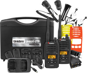 2 WATT UHF HANDHELD TRADIES TWIN PACK    (UH820S-2TP)