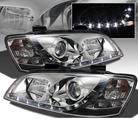 Holden Commodore VE (series 2) DRL LED projector headlights CHROME