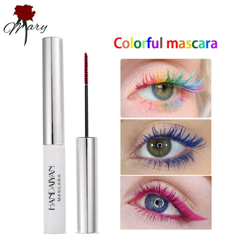 Rainbow Colour Mascara - Waterproof Long Lasting Curling Lengthening