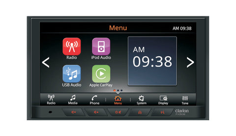 Clarion FX508AU 2-DIN USB / AUX-IN / MP3 / WMA DISPLAY AUDIO WITH BUILT-IN BLUETOOTH