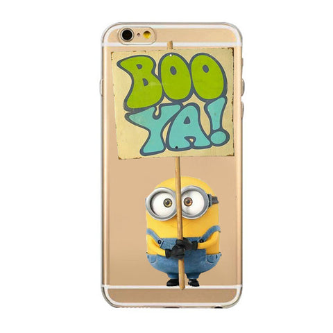 newest 5cc12 f9593 Mobile Phone Bags Cases Despicable Me Yellow Minion Design for iPhone 5c 5s  6 6sPlus Case Luxury Silicone Transparent Patteren