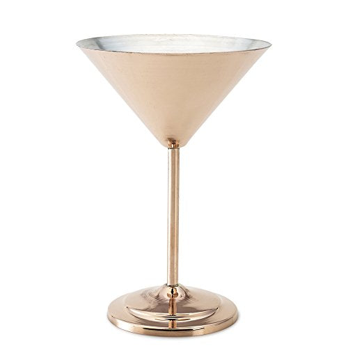 Kuprum 10 oz Copper Martini Glass