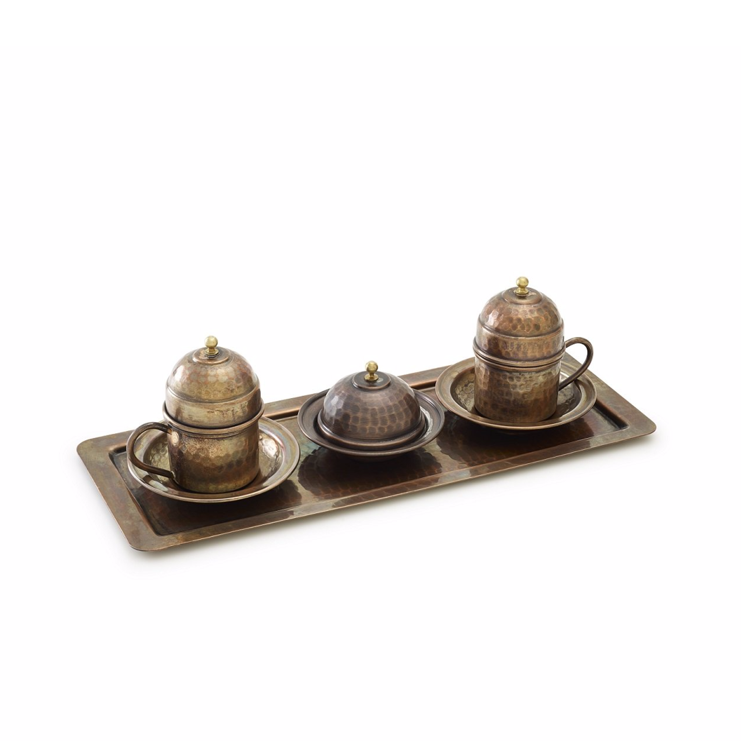 Kuprum Aged Copper Coffee Serving Set