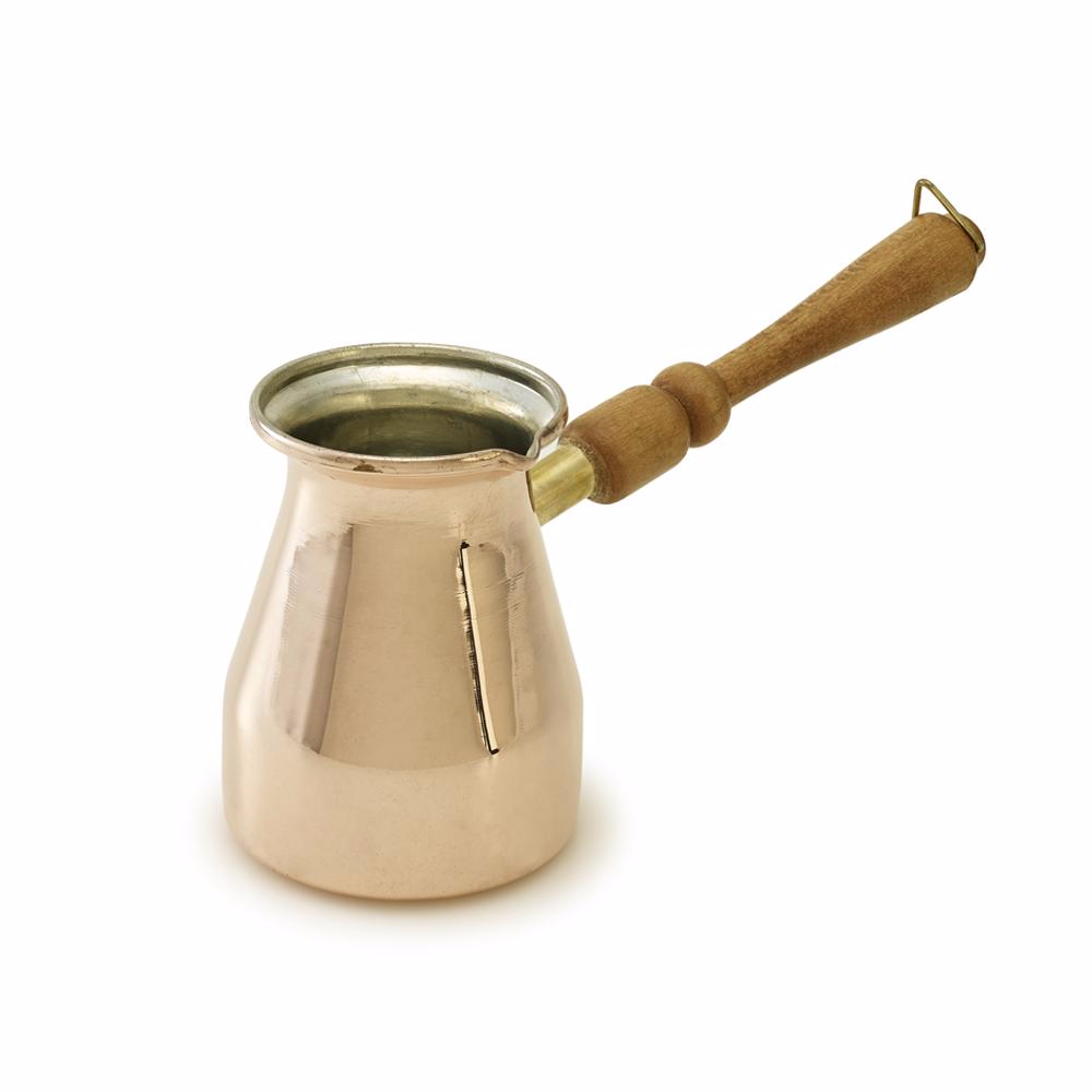 Kuprum Large Copper Coffee Pot with Wooden Handle