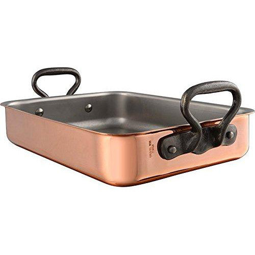 Mauviel Copper Roaster with Rack Cast Iron Handle