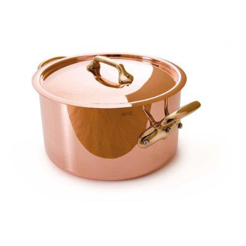 Mauviel Copper Stockpot with Lid and Bronze Handles