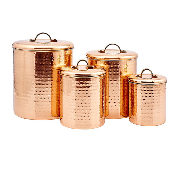 Old Dutch Copper Canister Set