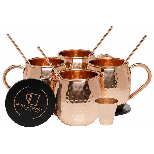 Advanced Mixology Moscow Mule Mugs Set of 4 -1