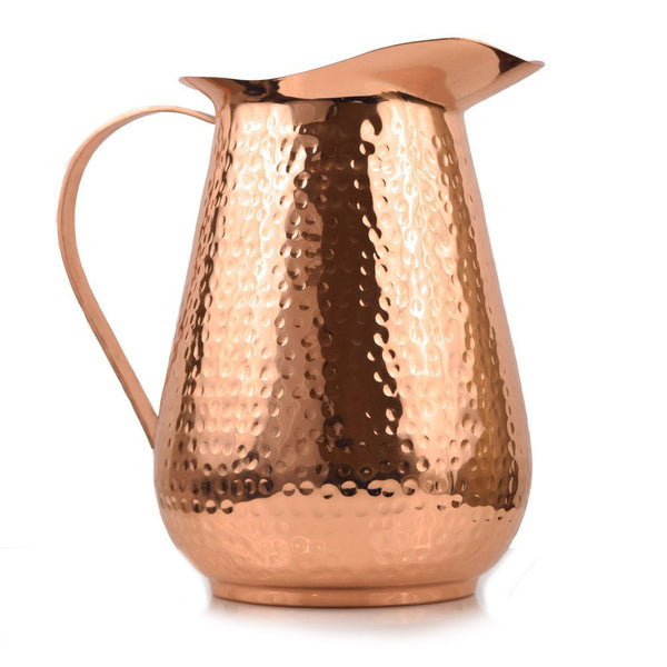 Artisan's Anvil Hand Hammered Copper Pitcher - 1