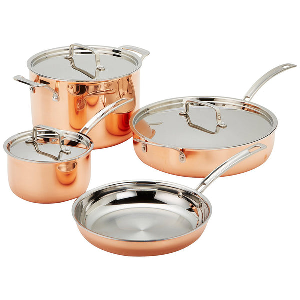 Cuisinart Copper Tri-Ply Stainless Steel Cookware Set