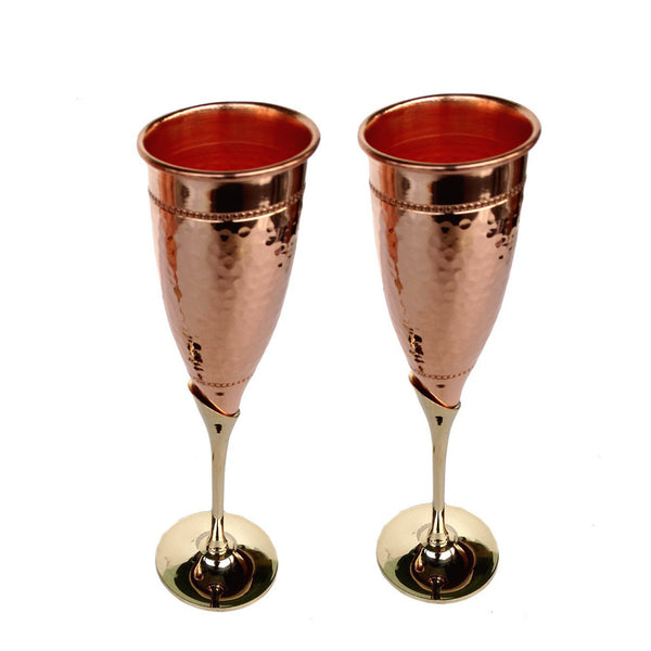 Rastogi Copper Wine Glass Set of 2 - 1