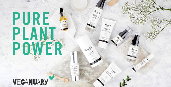 Nourish London Supporting Veganuary Pure Plant Power Cruelty Free Skincare