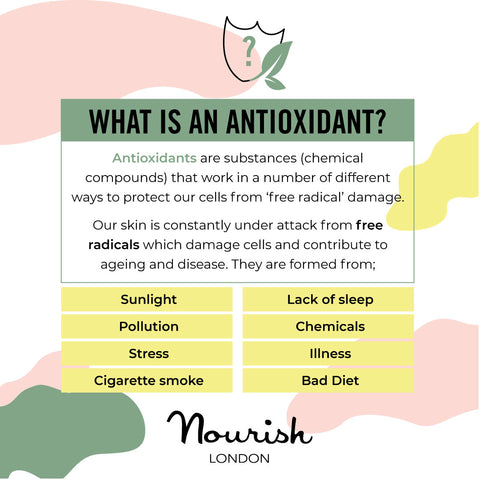Nourish London Skincare What are Antioxidants Protect Free Radicals