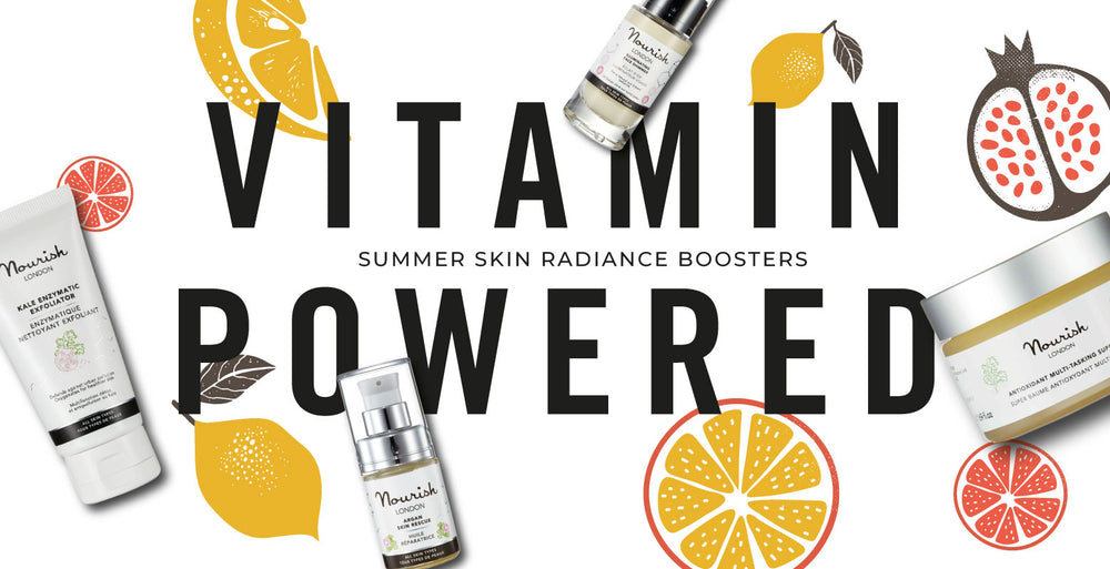 Nourish London Summer Skin Radiance Boosters Vitamin Powered Skincare