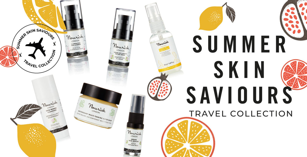 Nourish London Summer Skin Saviours Travel Skincare Collection